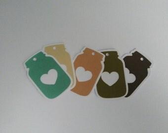 Mason Jar Jar wedding favor bag tags, Custom tags ticket Gift tag