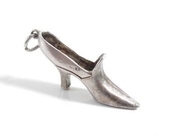 silver heels - Vintage – Etsy UK