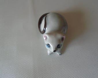 tiny porcelain mouse Japan