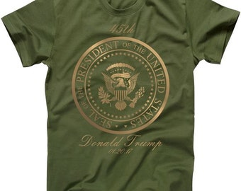 Donald Trump Gold Seal - 45th President T-Shirt