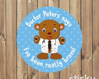 Personalized Doctor Bravery Stickers, Doctor Stickers, Nurse Stickers, Medical Stickers, Doctor Gift, New Doctor Gift Idea, Custom Stickers
