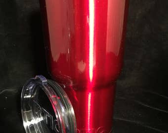 Translucent Red Powder Coated Tumblers