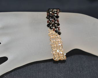 Swarovski crystal bracelet with 2x spray and crystal golden shadow