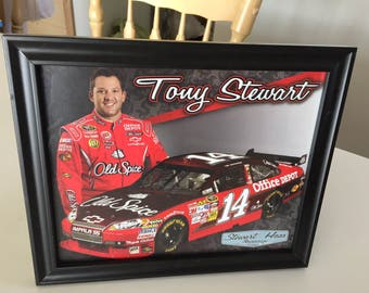 10x15 framed Tony Stewart picture
