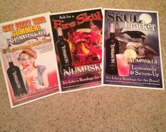 Set of three Skol unframed posters