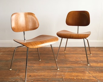 Vintage Herman Miller Molded Plywood DCM Chairs