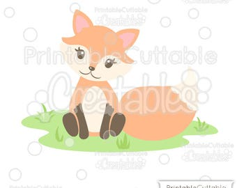 Cute Woodland Fox SVG Cut File & Clipart E257 - Includes Limited Commercial Use!