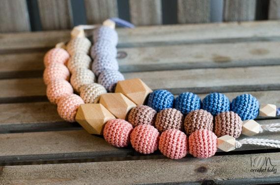 Dentini - Nursing necklace - Teething Necklace - Crochet Necklace