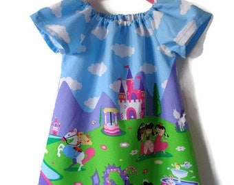 Girls dress, girls top, fairytale dress, party dress, occasion dress, princess dress, dragon dress, gifts for her, girls clothing