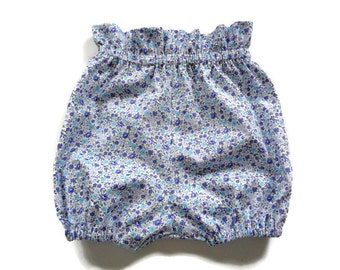 Girls bloomers, girls shorts, paperbag waist, girls clothing, just for her, elastic waist, baby bloomers, vintage fashion, floral shorts