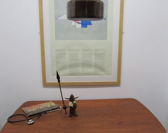 Danish Jo Hammerborg Enamel Midi Light Pendant Made By Fog And/Og Morup/Mørup