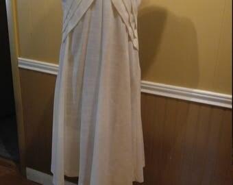 1990's Apostrophe White Dress Size 12