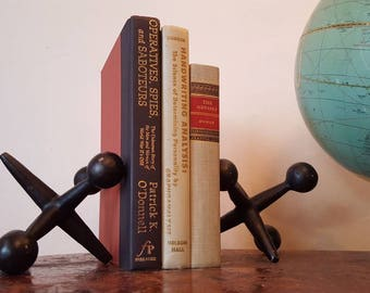 Mid Century Modern Curry Jax Bookends Black