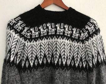 Vintage Wool Alpaca Sweater  - Handmade Sweater