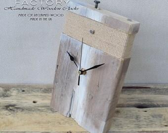 Desk Clock, Table Clock, Wooden Clock, Clock, Handmade wooden Clock, Free Standing Clock, Large desk Clock, Rustic Wood Clock, Rustic Clock