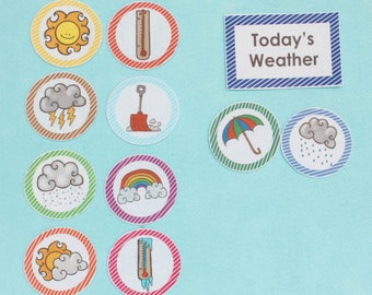 Weather Felt Board Activity Set - Circle Time Tool - Felt Craft - Teaching Activity ~ Rainy - Sunny - Weather Learning Activities