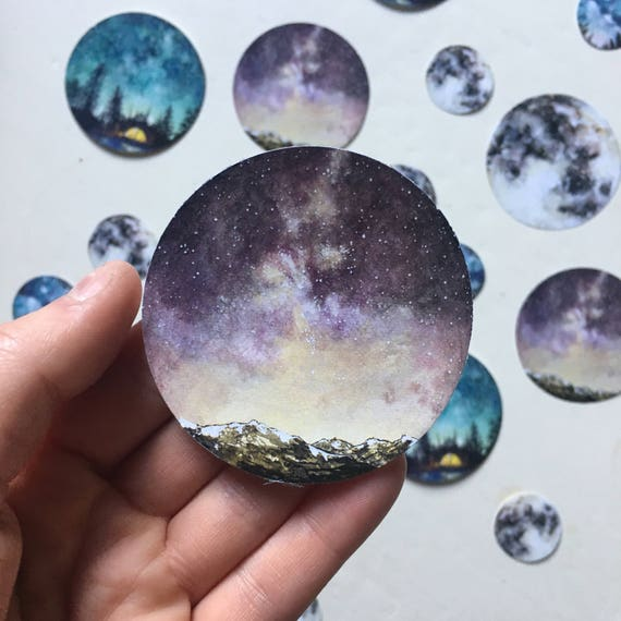 Watercolour Sky Sticker