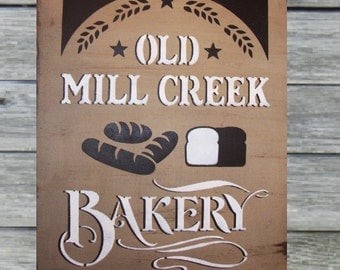OLD MILL CREEK bakery sign