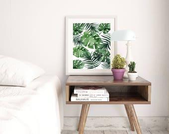 Palm Leaf Print - Monstera Leaf Print - Tropical Print Leaf Print