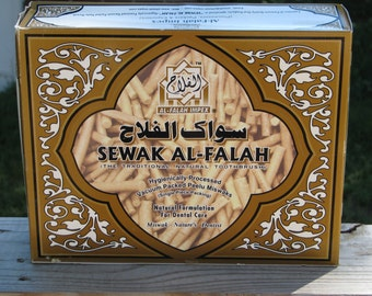Miswak Siwak - Sewak Al-Falah - Natural Herbal Toothbrush Vacuum Pack Arak Peelu