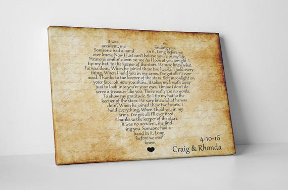 3rd Wedding Anniversary Gifts For Husband: Unique Anniversary Canvas Art Gift Idea For Husband