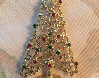 Vintage Tancer II Star Cut-Out Christmas Tree Pin