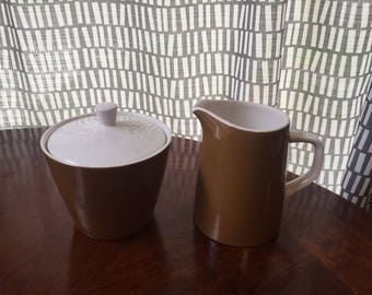 Mikasa Cera-Stone Brown Cream and Sugar set