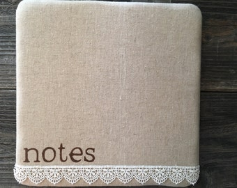 Bulletin Board, Note Board, Message Board, Memo Board, Photo Bulletin Board, Fabric Bulletin Board, Photo Board, Shabby Chic Memo Board
