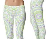Spring Yoga Leggings - Cute Printed Leggings, Yoga Pants Womens Pattern Leggings Tights