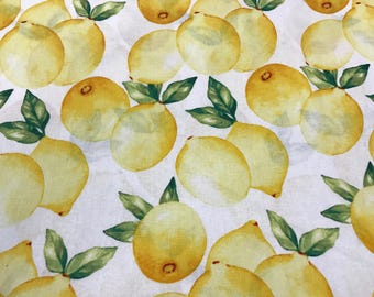 Lemon fabric, summer fruit fabric, fruit fabric, novelty fabric, summertime, lemonade