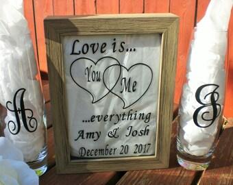 Unity Sand Ceremony Shadow Box, Cottage Chic Wedding,Sand Ceremony, Wedding Sand Ceremony, Beach Ceremony, Unity Sand Ceremony.