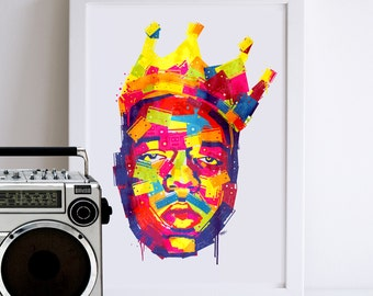 Notorious B.I.G Illustrated Art Print
