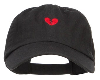 Mini Broken Heart Embroidered Low Cap