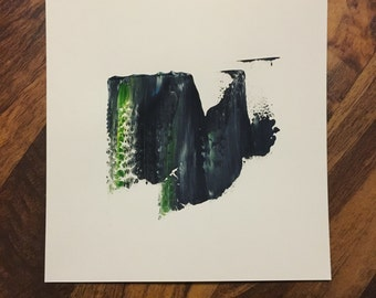 Original abstract art, minimalist painting, acrylic on paper