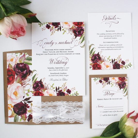 Blush Wedding Invitations for great invitations template