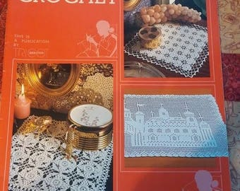 Magic Crochet Magazine #26 1983  Doilies Patterns Tablecloths Bedspread Table Runners Crochet Patterns Instructions Table Center Crafting