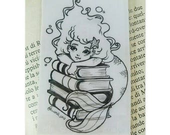 original illustration: mermaid bookmark