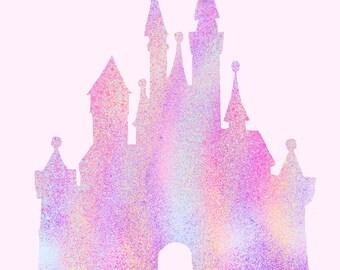 Disney Castle Print (With Mickey Head)