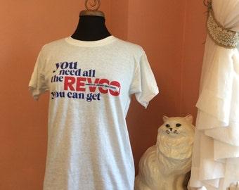 Vintage 80s Tshirt, Revco Drug Store, Pharmacy, Grocery (B128)