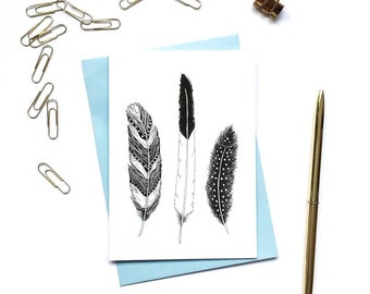 Feathers 3 Card Pack