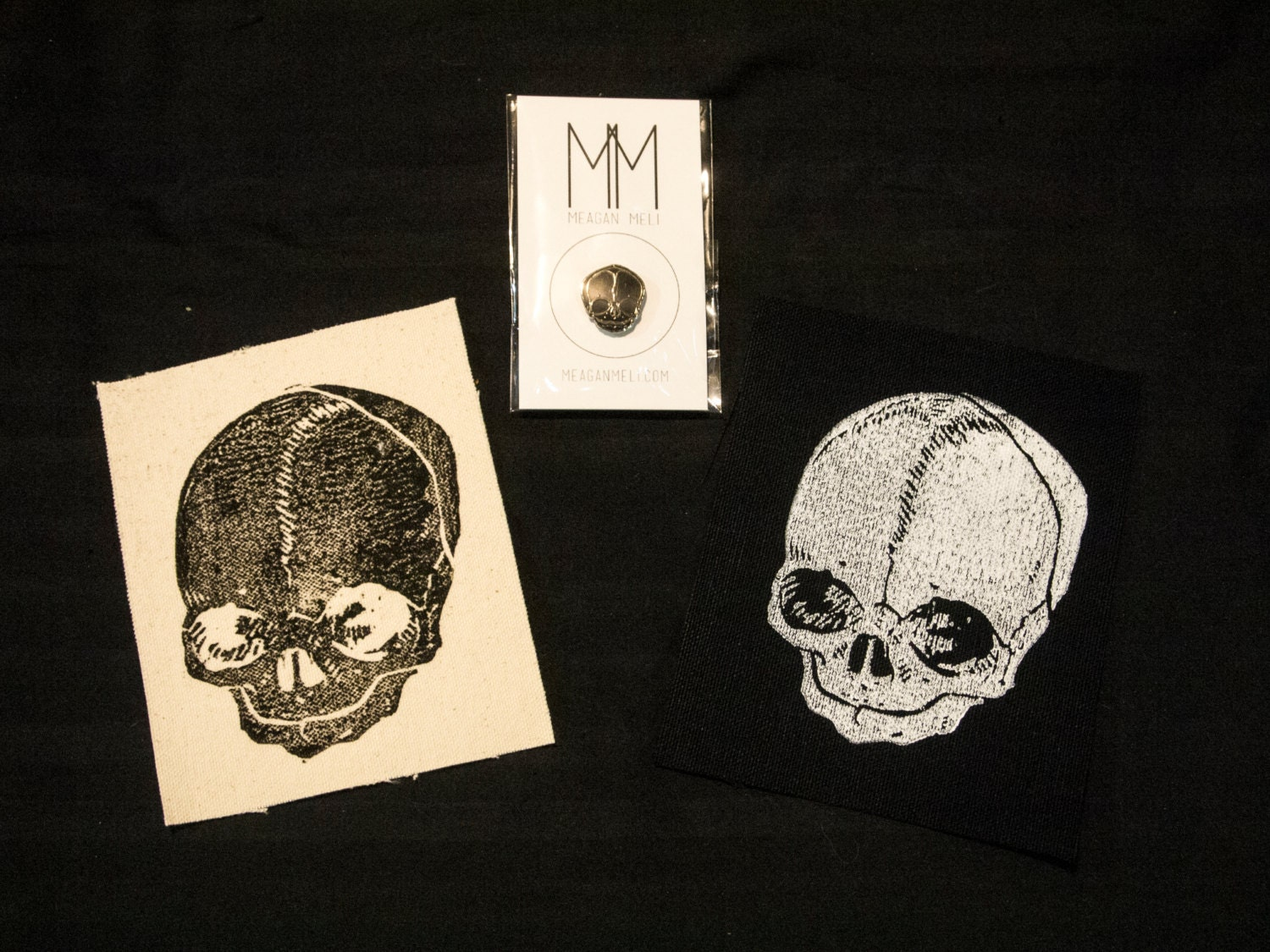 Fetal Skull Pin, Patch, or Print Combo!