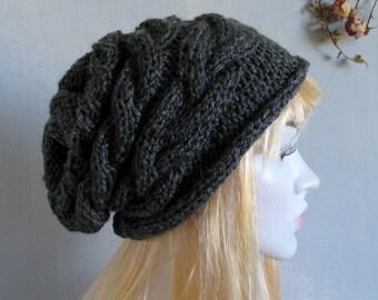 Women's Knit Hats, Women's Winter Hat, Women's Hats, Hand Knit Hat Women, Knit Hat Woman, Cable Knitted Hat,Women Knit Hat