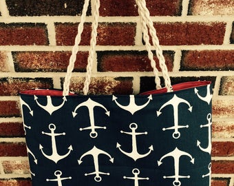 Large Anchor Beach Tote