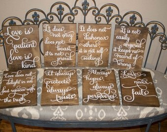 Love is Patient -  1 Corinthians 13 - Love is Patient Sign - Love -  Wedding Wood Signs