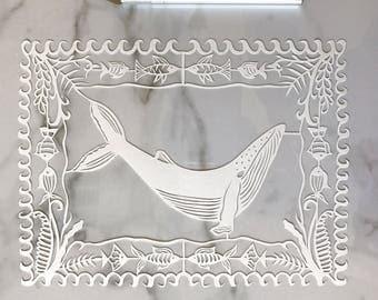 Whale Original Papercut