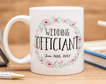 Wedding Officiant mug, beautiful wedding gift!