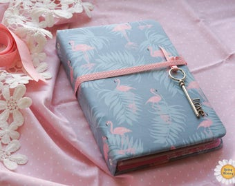 Notepad flamingo Birthday gift Memory book Handmade Made to order