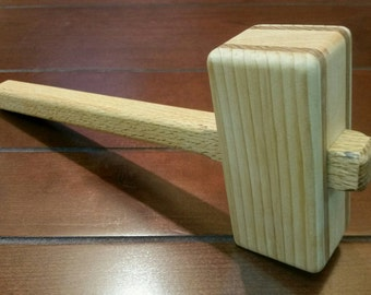 Wooden Mallet - Wood Mallet - Woodworking Mallet - Meat Tenderizer - Rustic Kitchen Utensil - Rustic Woodworking Tool - Gift under 20