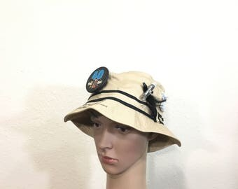80's vintage bucket hat fisherman fishingman cap size 7 5/8