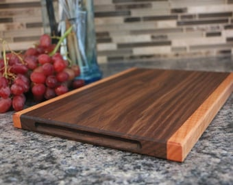 Small wooden serving board, charcuterie, cheese or cutting board. A HAY board by Bruce Hay